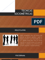 TECNICAS SOCIOMÉTRICAS