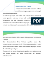 LEZIONE 5 Comunicazione Non Verbale