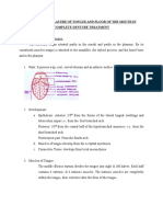 Role of Tongue n Floor of Mouth in CD Trt