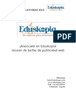 Tarifas Publicidad Web