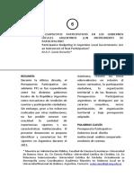 Presupuesto Participativo en Los Gobiernos Locales Argentinos