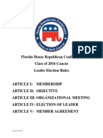 House Republican Conference Class of 2016 Rules Draft