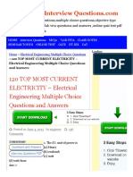 120 TOP MOST CURRENT ELECTRICITY - Electrical Engineering Multiple Choice Questions and Answers Electrical Engineering Multiple Choice Questions