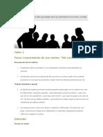 Taller Para Trabajar Sobre Las Características de Uno Mismo( Autoestuima ESI)