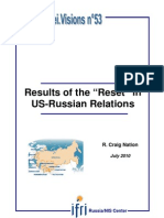 "Results of the ""Reset"" in US-Russian Relations"