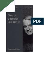Deleuze DiferenciaYRepeticion
