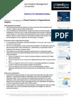 Organisational Integrity Module 3 Summary
