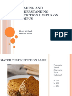 reading and understanding nutrition labels