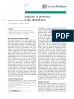 Towards the Integration of Genomics, Epidemiological and Clinical Data