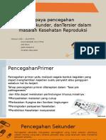Upaya Pencegahan Primer,Sekunder, DanTersier