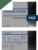 Medida de Coercion Personal Prision Preventiva