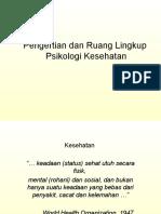 Psikologi Kesehatan Pertemuan 1
