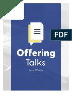 4 Week Offering Talks