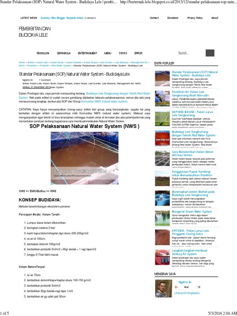Penerapan System Air Dalam Budidaya Ikan
