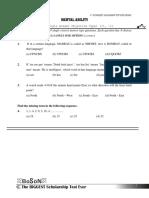 BoSoN Sample Paper Class V