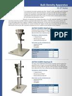 21 27 Bulk Density Apparatus TMI
