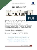 TESIS DE MAESTRIA Gestion de calidad en Hospital publico municipal