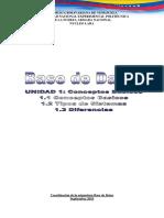 BD - UNIDAD 1