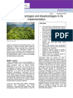 REED+ Advantages and disadvantages in its implementation