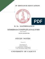 BSc Mathematics Complex Analysis