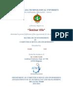 Seminar Report Format - Google Docs