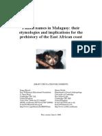 Malagasy Wild Animal Names