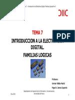 6.-Tema 7-Introducción a Las Familias Lógicas Digitales