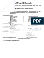 Curriculum vitae of shahid (1).doc