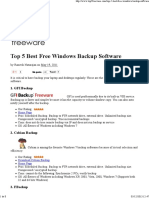 Top 5 Best Free Windows Backup Software