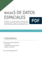 Bases de Datos Espaciales-Introduccion