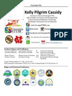 curriculum vita for kelly pilgrim cassidy 2017