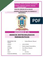 Avances Biotecnológicos Farmacéuticos