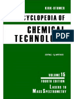 Encyclopedia of Chemical Technology [Vol 15]