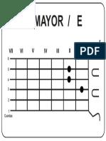 Acordes Mayores E Guitarra