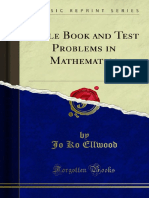 Table Book and Test Problems in Mathematics