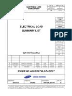 2485-0-El-dl-001[Electrical Load Summary List] Rev b