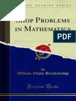 Shop Problems in Mathematics