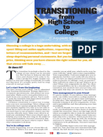 transitioning from high school to college pdf
