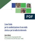 Linee Guida Caratteriazzazione Di Una Malta Storica