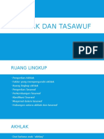 Akhlak Dan Tasawuf