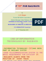 1. Role of IT for Railways
