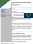 Cisco Router Configuration Tutorial