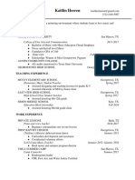 2017 resume and references