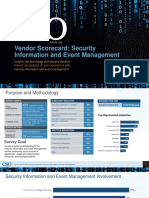 CSO 2016 SIEM Vendor Scorecard Research