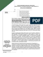 Membership Application 2009