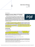 IFM Case 2 Hedging Currency Risk