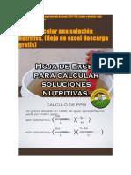 Como Calcular Una Solución Nutritiva-ECXEL