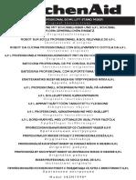 Instructions - Manual KitchenAid 5KSM7990XEER