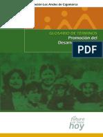 Glosario de Terminos Promoción Del Desarrollo Humano Sostenible