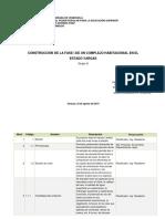 Diccionario WBS-Construcción de La Fase 1 de Un Complejo Habitacional en El Estado Vargas-Grupo D